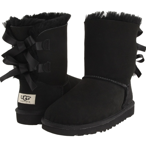 d8a335dbf2d UGG GIRLS BLACK BAILEY BOW BOOTS ~ 13 ~ ADORABLE!!